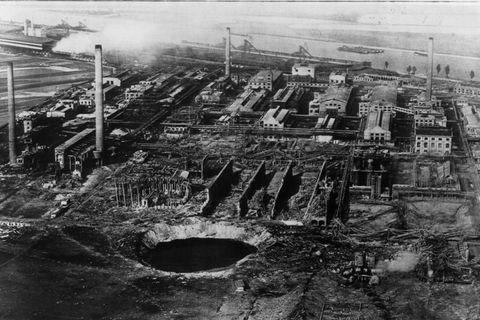 Am 21. September 1921 explodierte in dem BASF-Werk ein Silo mit Ammonsulfatsalpeter