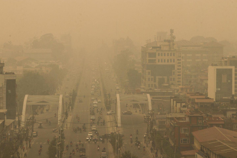 Smog in Kathmandu, Nepal: Die WHO empfiehlt deutlich strengere Grenzwerte bei Luftschadstoffen