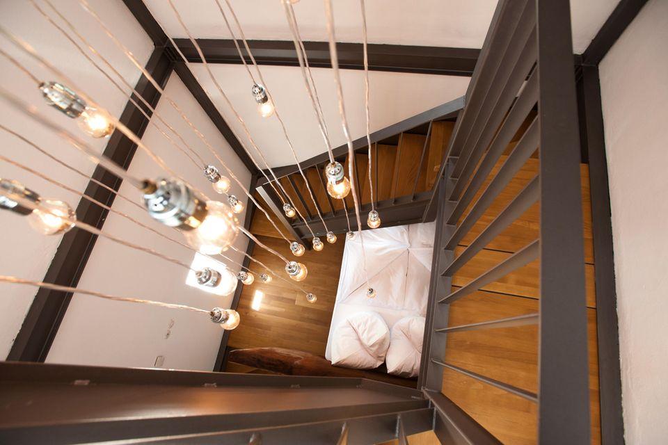 Treppenhaus im Leuchtturm Dagebüll