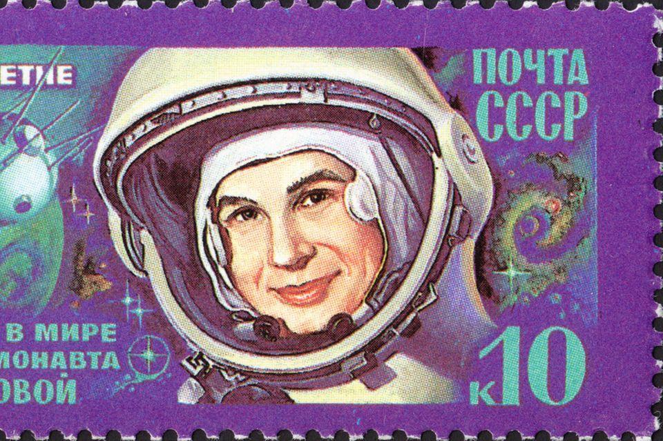 Valentina Teroshkova aus der damaligen UDSSR, die erste Frau im Weltall