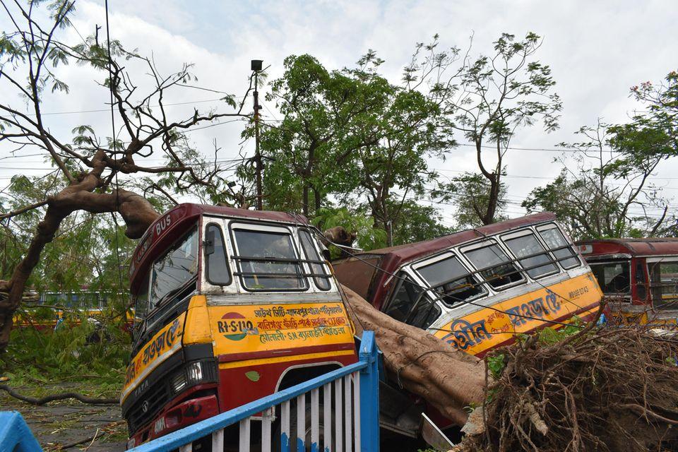 Mai 2020: Ein Zyklon hat in im indischen Kalkutta und im benachbarten Bangladesh schwere Verwüstungen angerichtet