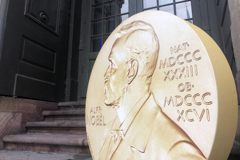 Nobelmedaille-Aufsteller in Stockholm