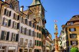 Altstadt von Solothurn in der Schweiz