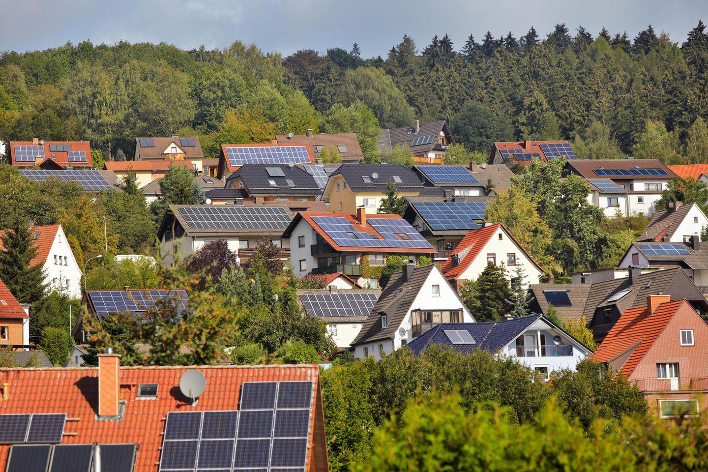 Solaranlagen auf Hausdächern