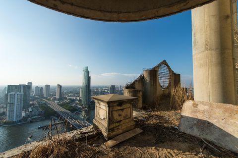 Blick vom Ghost Tower in Bangkok