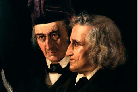 Brüder Grimm, gemalt von Elisabeth Jerichau-Baumann