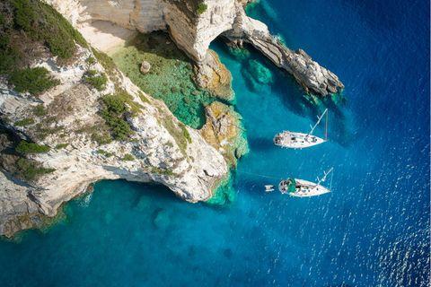 Segelboote auf Paxos