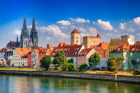 Blick auf Regensburg